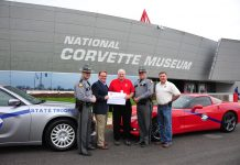 Corvette Enthusiasts Raise $13,500 for KSP Trooper Island Camp