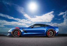 Five special Corvette Grand Sport Admiral Blue Heritage Editions to be Exported to Japan