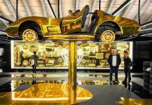 Cartier's Milan Pop-Up Store Features a Gold C3 Corvette
