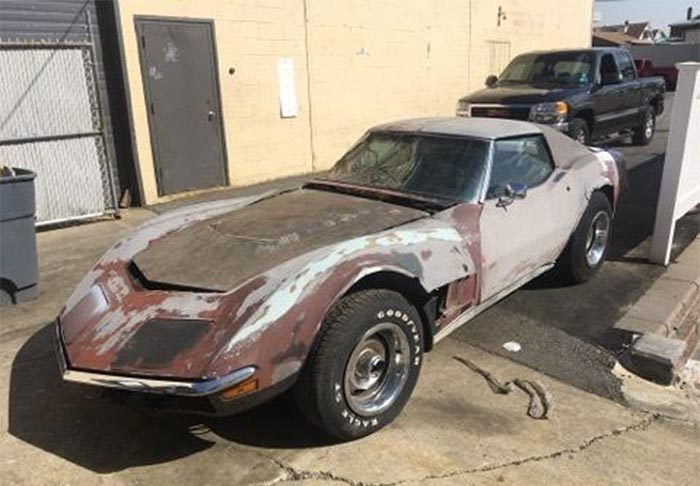 Corvettes on eBay: LS5 1970 Corvette Barn Find