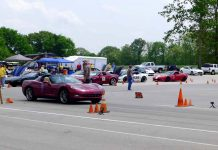 Track Action from the Motorsports Park at the Michelin NCM Bash