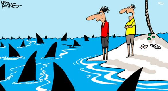 Saturday Morning Corvette Comic: Swimming with the Sharks