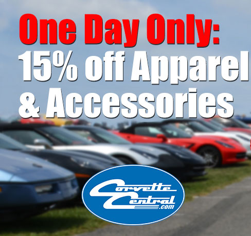 15% Off Apparel and Accessories at Corvette Central's One Day Sale