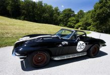 Corvettes on eBay: Historic Triple Black 1966 Corvette Hill Climb Racer