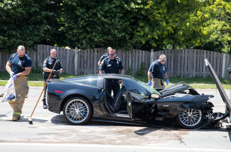 [ACCIDENT] Corvette ZR1 Driver with Two Female Passengers Leads Police on Chase before Crashing into Two Vehicles