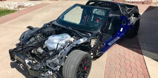 Salvage Title Corvette Z06 Goes for Pikes Peak Glory