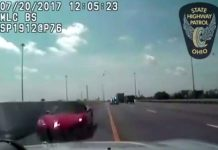 [VIDEO] Ohio Police Use Cruiser to Stop Wrong Way Corvette Driver