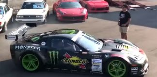 [VIDEO] Drifter Donuts RHD Corvette Z06 Next to a Ferrari