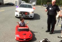 [PICS] Canadian Police Ticket Six-Year-Old Corvette Driver for Doing Donuts