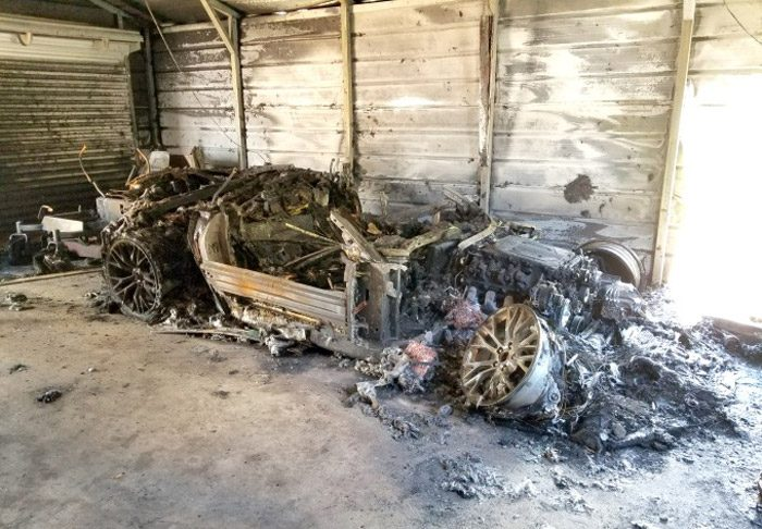 Arson Destroys a $100,000 C7 Corvette Z06 in Georgia