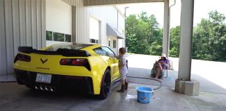[VIDEO] Washing Dale Jr's Corvette Grand Sport