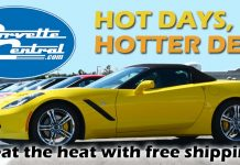 Free Shipping During Corvette Central's Hot Days, Hotter Deal Sale