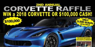 Corvette Raffle: Win a 2018 Corvette or $100,000 Cash!