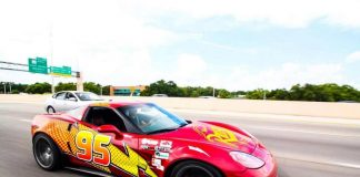 KACHOW! Texas Man Creates Lightning McQueen Tribute with C6 Corvette