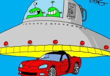 Saturday Morning Corvette Comic: Why UFOs Visit Earth