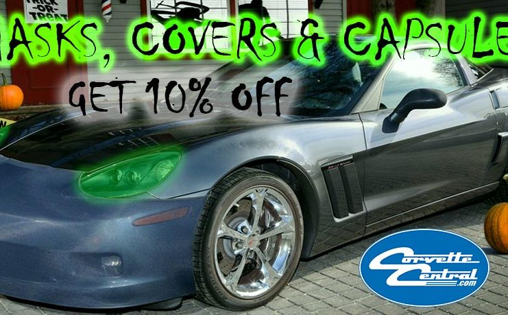 Save 10% on Corvette Masks, Covers and Capsules at Corvette Central
