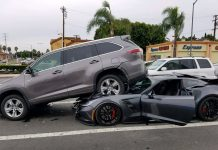 [ACCIDENT] Corvette Grand Sport Lifts an SUV in a California Crash