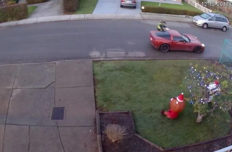[VIDEO] A Package Stealing Porch Pirate in Vancouver Drives a Red Corvette