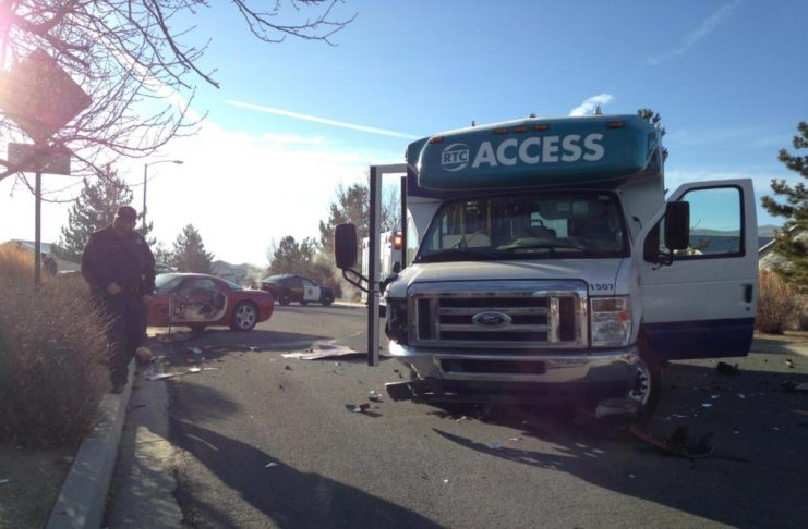 [ACCIDENT] C5 Corvette Driver Hits a Bus in Reno