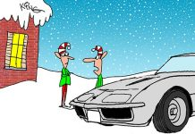 Saturday Morning Corvette Comic: When You Are In Santa's Doghouse