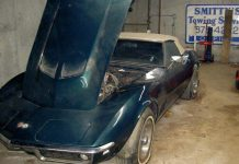 Corvettes on Craigslist: Barn Find 1968 Corvette Convertible with 427/390 V8