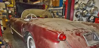 Rare Sportsman Red 1954 Corvette Barn Find