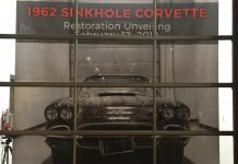 Corvette Musuem to Unveil Freshly Restored 1962 Corvette on 4th Anniversary of Sinkhole