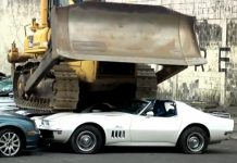 [VIDEO] 1969 Corvette and Other Vehicles Crushed in the Philippines As Warning To Smugglers