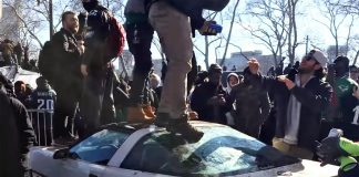 [VIDEO] Philiadelphia Eagles Fans Trash a 1985 Corvette Parked Along Super Bowl Parade Route