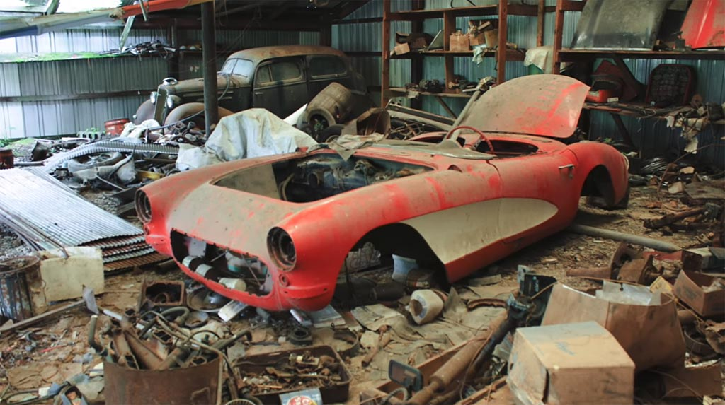 [VIDEO] Ridiculous 1957 Corvette Barn Find - Corvette: Sales, News & Lifestyle