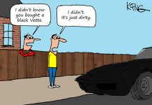 Saturday Morning Corvette Comic: Time for Car Wash?