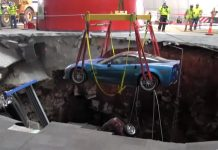 WBKO Reporter Goes Splunking in the Corvette Museum's Sinkhole