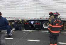 [ACCIDENT] C6 Corvette is Wedged Under a Semi Trailer in Tennessee