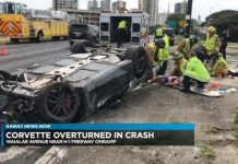 [ACCIDENT] C7 Corvette Stingray Overturns in Hawaii