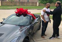 NFL Player Christian Covington Surprises His Dad With a Corvette Stingray