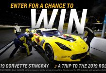 Win a 2019 Corvette Stingray and a Trip to the 2019 Rolex 24