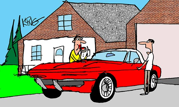 Saturday Morning Corvette Comic: No Food Allowed!