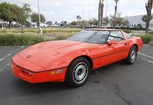 Corvettes on eBay: 1984 Corvette is One of Two Painted Hugger Orange for Jim Gilmore and AJ Foyt