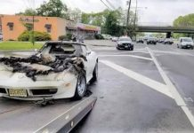 [ACCIDENT] C3 Corvette Catches Fire While Travelling to a Saturday Car Show