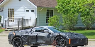 [SPIED] Is This the Mid-Engine C8 Corvette's Front Axle Lift System in Action?