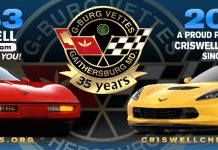 G-Burg Vettes Corvette Club to Hold Annual Corvette Show at Criswell Chevrolet on June 9th