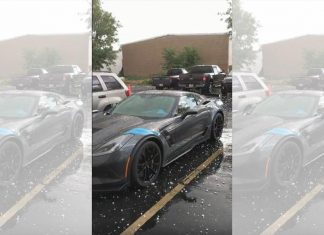 [VIDEO] 2017 Corvette Grand Sport Collector Edition is Caught in a Hail Storm
