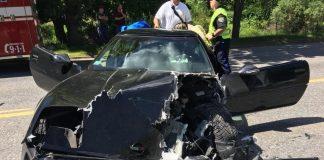 [ACCIDENT] C4 Corvette Collides with Semi in Massachusetts