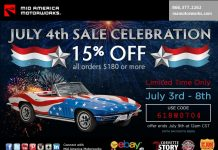 Save 15% During Mid America Motorworks' July 4th Celebration