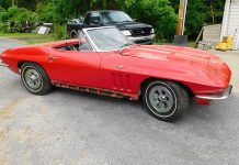 Red 1965 Corvette Formerly Owned by Corvette Hall of Famer Betty Skelton Discovered in PA