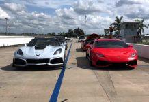 [VIDEO] Corvette ZR1 vs Lamborghini Huracán LP 610-4 in Dig and Roll Races