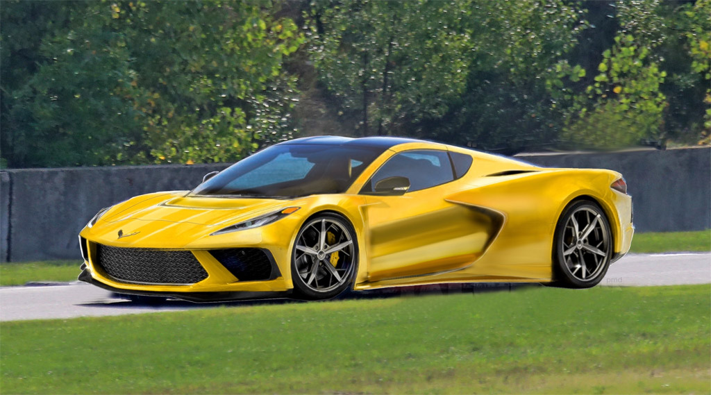 pics  corvette c8 r spy photos inspire new renderings of