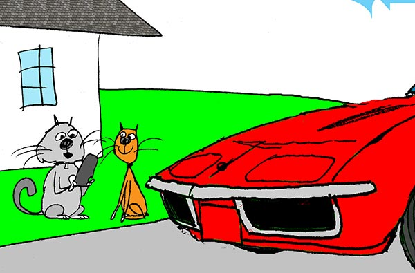 Saturday Morning Corvette Comic: Learning to Drive