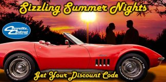 Save on Shipping During These Hot Summer Nights at Corvette Central