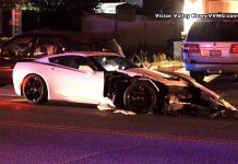 [ACCIDENT] Speedy C7 Corvette Takes Out Three Cars In Neighborhood Crash